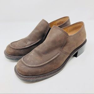 ENZO ANGIOLINI chocolate brown loafer